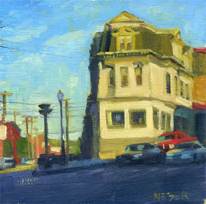 """Harris Ave."" original fine art by Kathy Weber"
