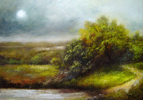 """Path to the Pond"" original fine art by Bob Kimball"