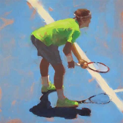 """TENNIS - Australian Open #1"" original fine art by Helen Cooper"