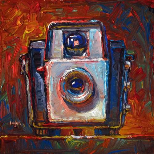 """Brownie Starlet Camera (The Square One)"" original fine art by Raymond Logan"