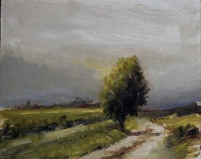 """Farm Track"" original fine art by Neil Carroll"
