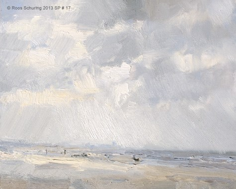 """""""Seascape spring 17 Dutch skies (available)"""" original fine art by Roos Schuring"""