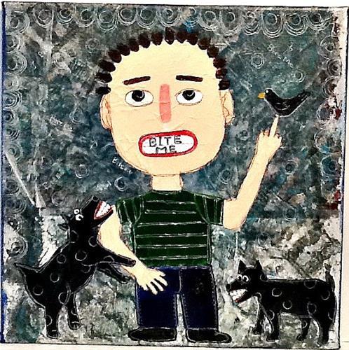 """BITE ME"" original fine art by Cindy Zoglmann"