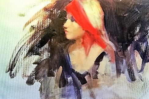 """young girl"" original fine art by Richard Schiele"