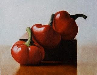 """Red Cherry Peppers"" original fine art by Jonathan Aller"