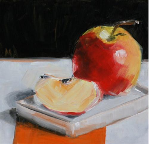 """Apple Day"" original fine art by Aniko Makay"
