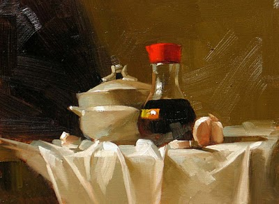 """""""Before Cooking 2"""" original fine art by Qiang Huang"""