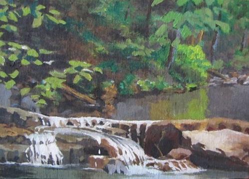 """""""30 - Dogwood Canyon Study"""" original fine art by Edward Watson"""