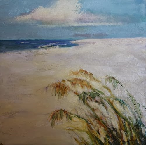 """""""Florida Sea Oats, Beach and Ocean Paintings by Arizona Artist Amy Whitehouse"""" original fine art by Amy Whitehouse"""