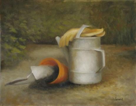 """Gardeners Delite #1303"" original fine art by Dee Lessard"