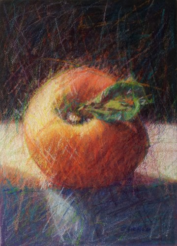 """Peach Cobbler"" original fine art by Cindy Haase"