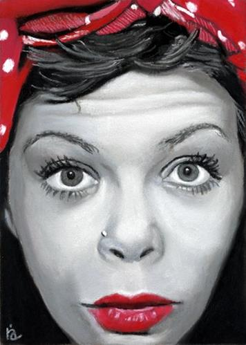 """Stephanie – facebook portrait #5"" original fine art by Ria Hills"