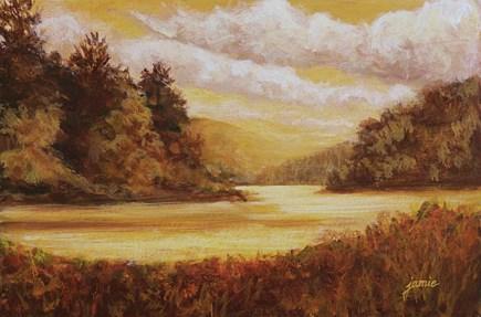 """Hudson Valley Golds"" original fine art by Jamie Williams Grossman"