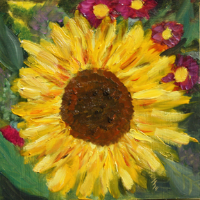 """Sunflower 2"" original fine art by Jane Frederick"
