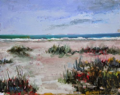 """Crescent Beach, Beach and Ocean Paintings by Arizona Artist Amy Whitehouse"" original fine art by Amy Whitehouse"
