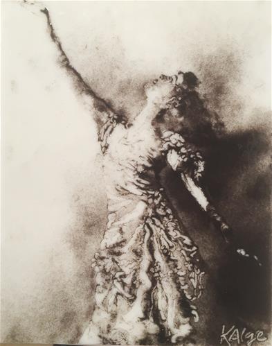 """Isadora Duncan, Tragic Women in the Arts Series"" original fine art by Kelly Alge"