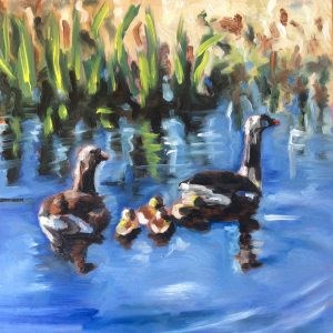 """Duck family"" original fine art by Sonja Neumann"