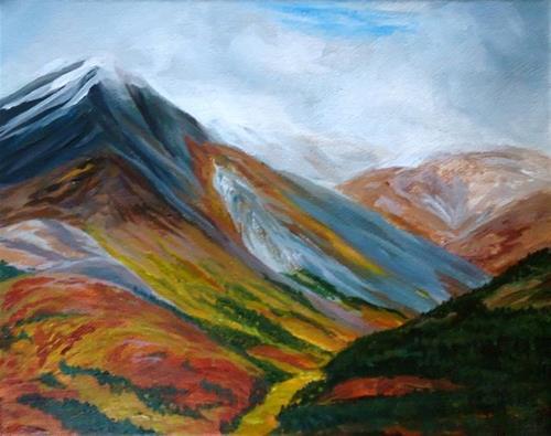 """Slide on the North Canol, Yukon"" original fine art by Jackie Irvine"