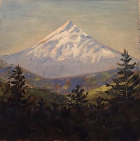 """Mt Hood"" original fine art by Natasha Ramras"