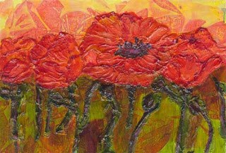 """Poppies"" original fine art by Kara Butler English"