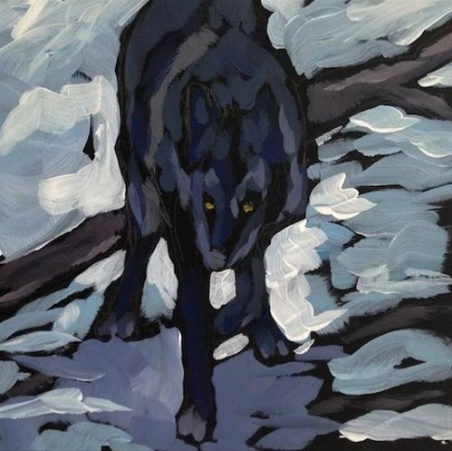 """Stepping Softly"" original fine art by Kat Corrigan"
