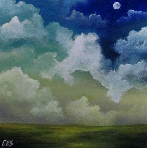 """""""Blue Moon"""" original fine art by ~ces~ Christine E. S. Code"""