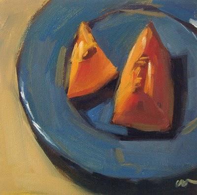 """Cantelope 2 --- SOLD"" original fine art by Carol Marine"