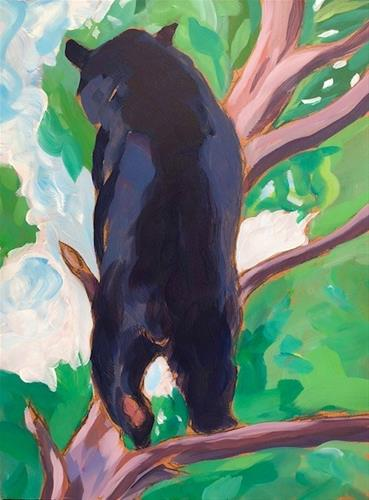"""A Black Bear Behind"" original fine art by Kat Corrigan"