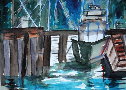 """Vessel No Name"" original fine art by Donna Crosby"