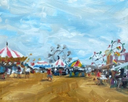 """""""Oil Painting of the County Fairgrounds"""" original fine art by Deb Anderson"""