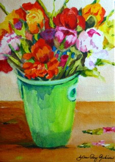 """Green and Pail"" original fine art by JoAnne Perez Robinson"