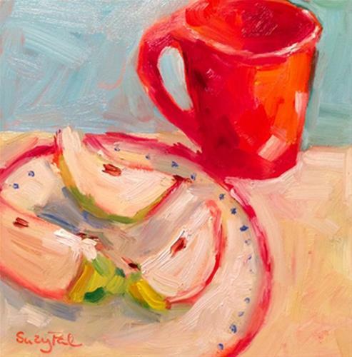 """Snack Time"" original fine art by Suzy 'Pal' Powell"