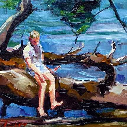 """""""Am Bodensee 3"""" original fine art by Jurij Frey"""
