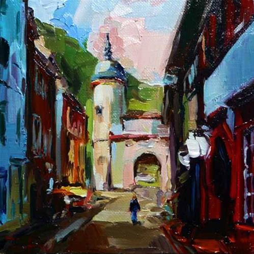 """Heidelberg"" original fine art by Jurij Frey"