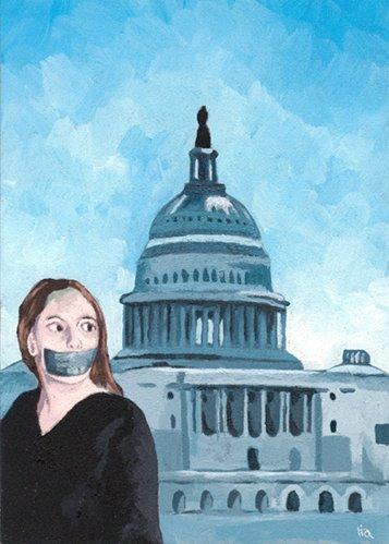 """""""fight SOPA"""" original fine art by Ria Hills"""