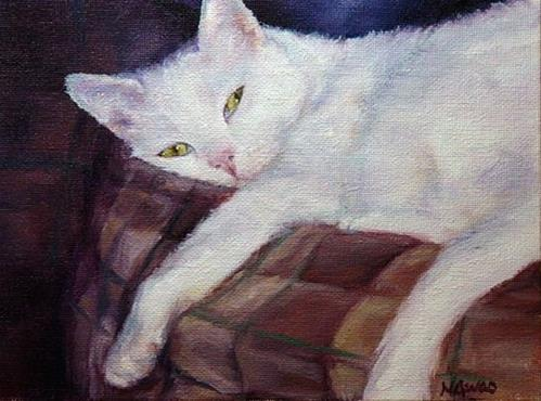 """Neige Napping"" original fine art by Maria Levandowski"