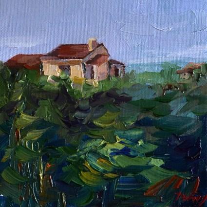 """""""Haus im Süden"""" original fine art by Jurij Frey"""