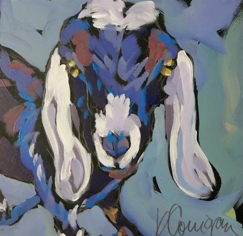 """Goat Ears"" original fine art by Kat Corrigan"