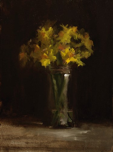 """Daffodils"" original fine art by Neil Carroll"