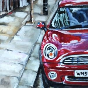 """Very british"" original fine art by Sonja Neumann"