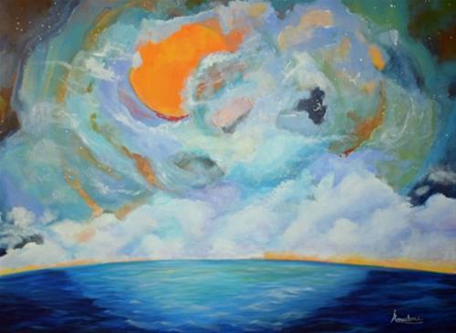 """Impressionism Seascape Painting Infinite Intrigue by International Seascape Artist Arrachme"" original fine art by Arrachme Art"