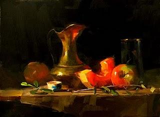 """""""Cantaloupe Glow"""" original fine art by Qiang Huang"""