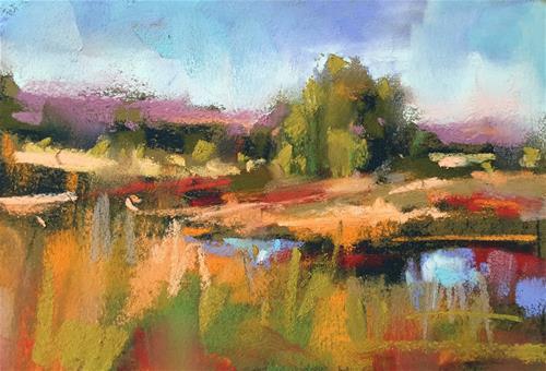 """Red & Gold"" original fine art by Marla Baggetta"