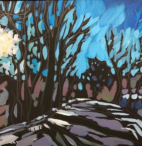 """""""Below Fort Snelling"""" original fine art by Kat Corrigan"""