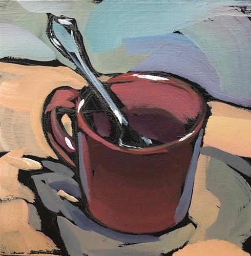"""Mugging Spoon"" original fine art by Kat Corrigan"