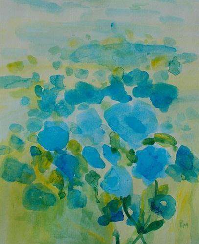 """""""Field of Blue"""" original fine art by Pamela Munger"""