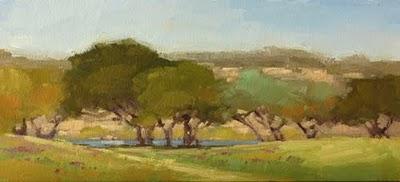 """Watching the River Flow"" original fine art by Laurel Daniel"