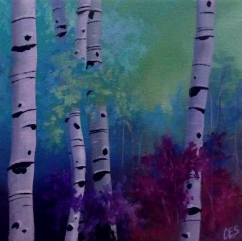 """""""Enchanted Birch"""" original fine art by ~ces~ Christine E. S. Code"""