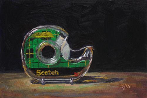 """Scotch Tape"" original fine art by Raymond Logan"
