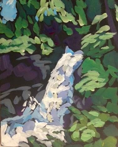 """Minnehaha Falls, June 2014"" original fine art by Kat Corrigan"